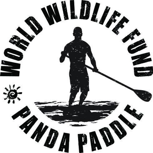 Panda Paddle Logo Black