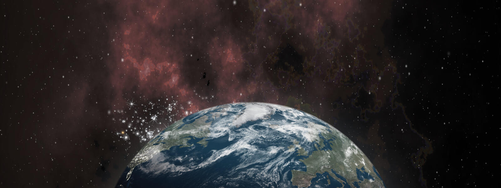 Planet Earth against a background of stars and space