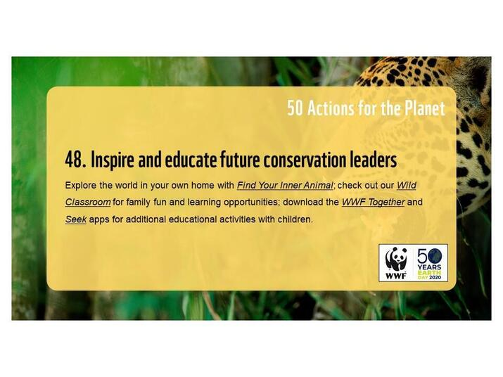 Action 48: Inspire and educate future conservation leaders