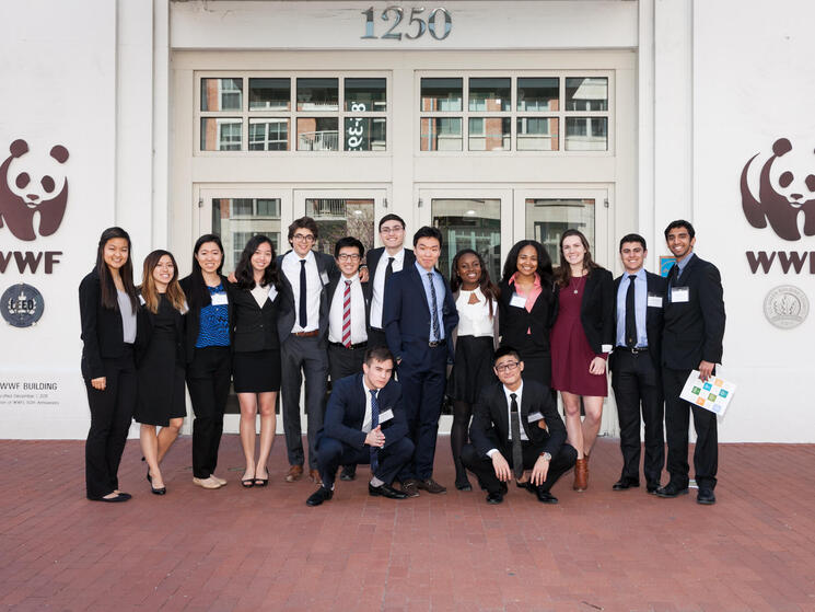 The Accenture Innovation Challenge participants in front of the WWF building