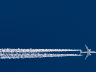 Airplane and contrails