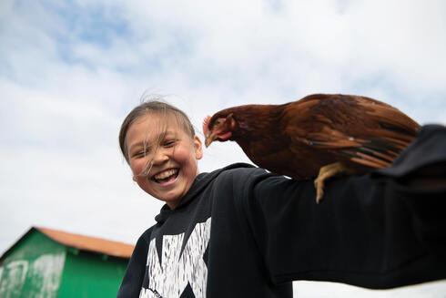 Shangen with chicken