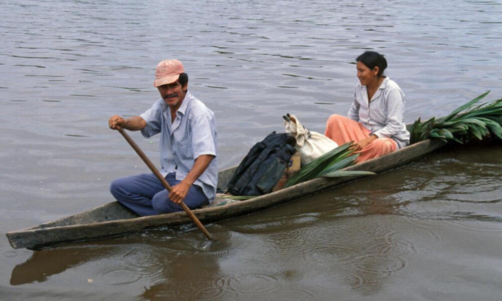Two people on the Amazon