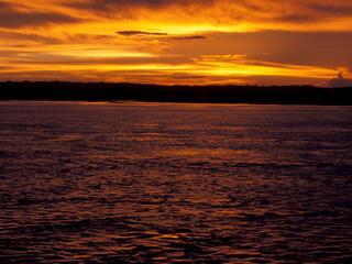 Sunset, Amazon. Peru.