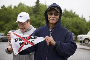 Pebble mine protestors