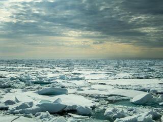 arctic sea ice broken up