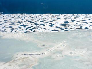Ice melting in Bering Strait