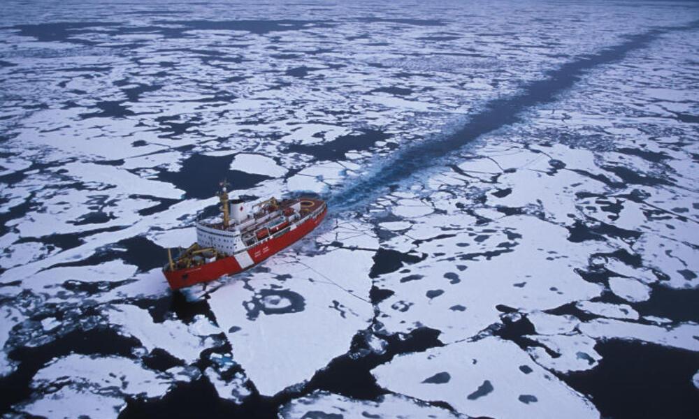 Ship in Arctic