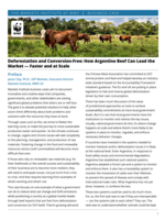 Deforestation and Conversion-Free: How Argentine Beef Can Lead the  Market — Faster and at Scale Brochure