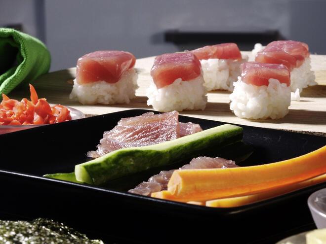 Bluefin tuna sushi