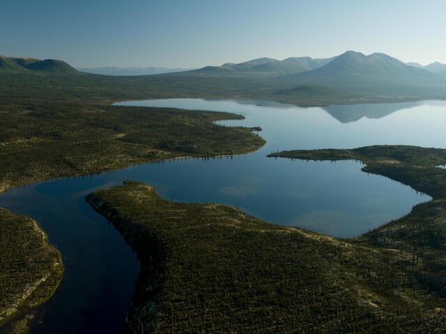 Bristol Bay, Alaska, from the air