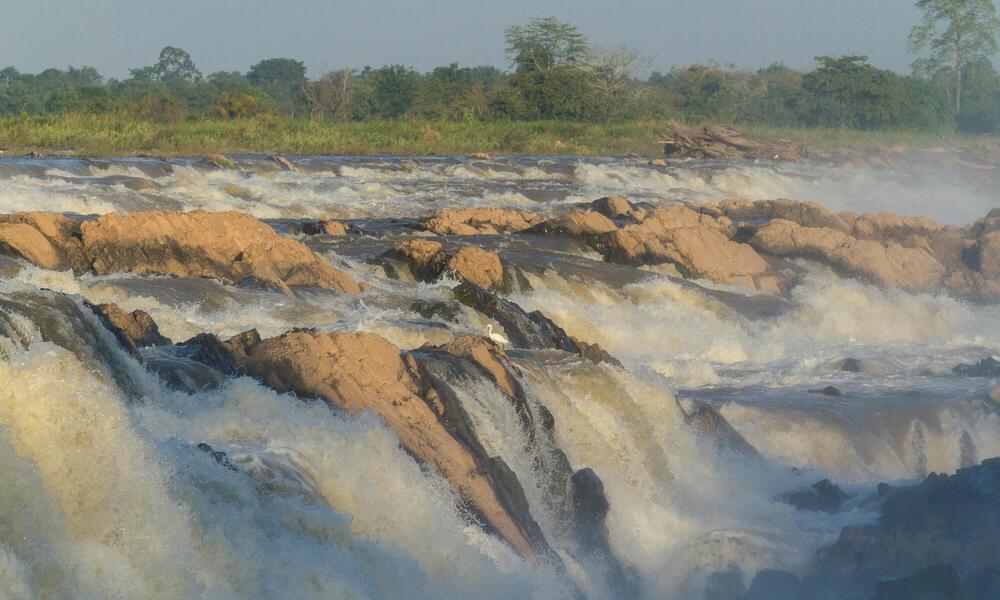 November 4, 2014 - Preah Rumkel, Stung Treng (Cambodia). A view of the Sopheak Mitt waterfall on the border between Laos and Cambodia.