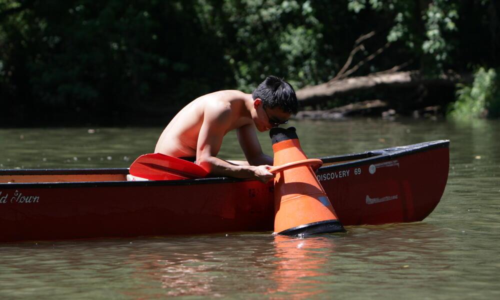 canoe looking