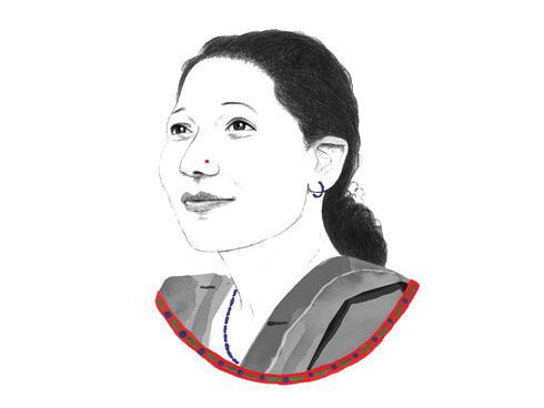 Portrait of Chandrakala Budha
