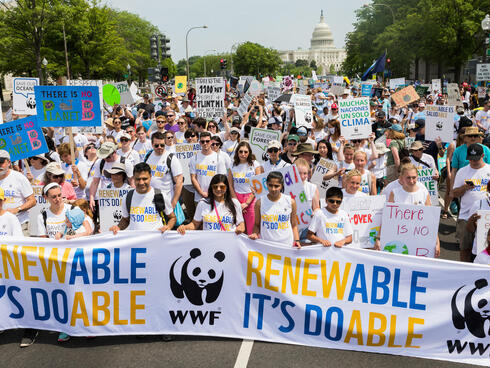 Climate march in Washington, DC
