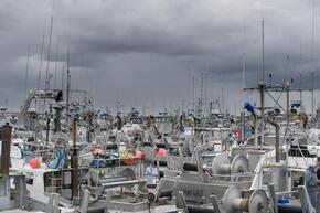 Preparing boats for salmon season