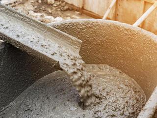 Concrete getting poured