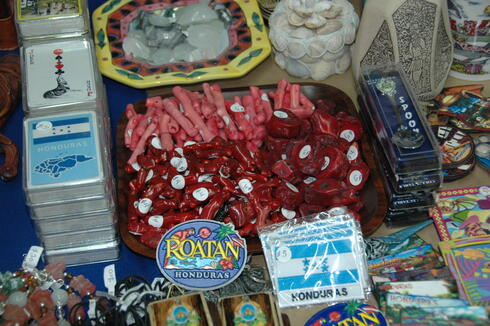 Pink and red coral for sale at a market