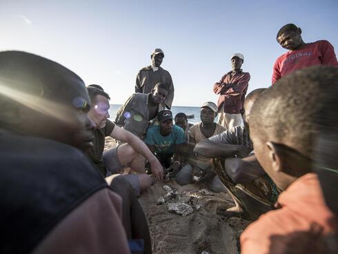 Dan Mullins of WWF-CARE in Mozambique