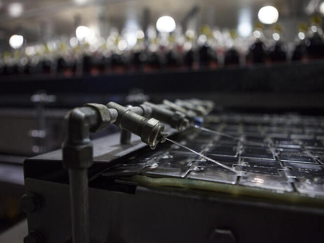 Detail of the low water technique at the Coca-Coca bottling plant