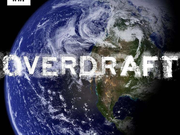 Overdraft stamp on the Earth