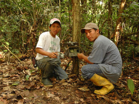 Roque and Daniel Alvarado, field assistants