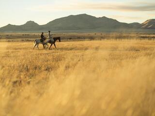Ejido farmers on horseback