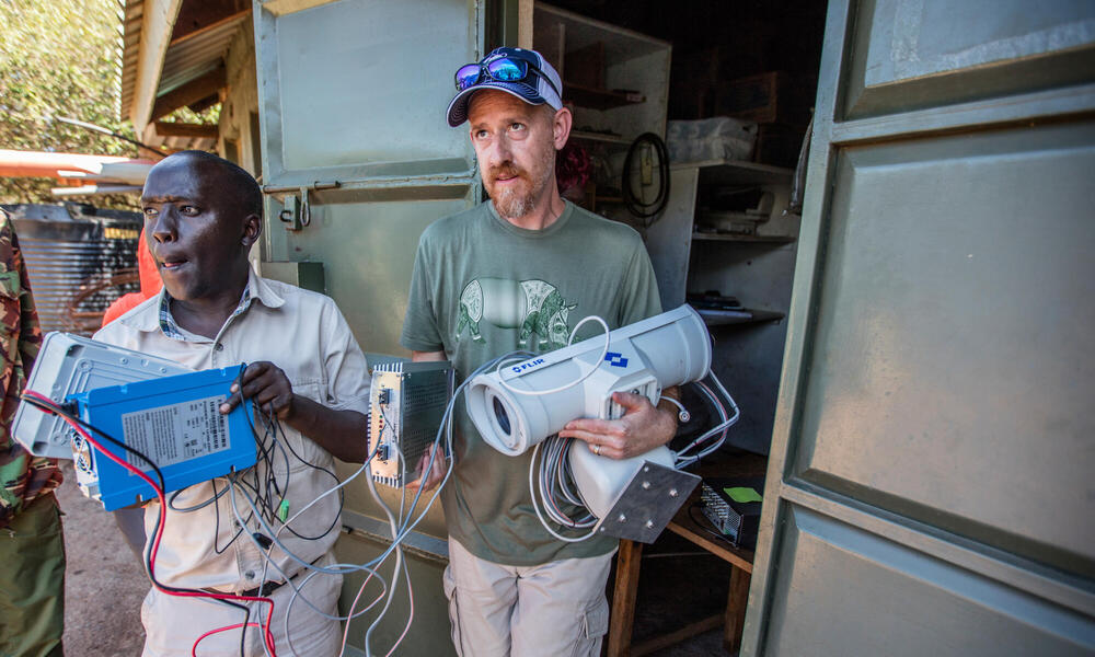 Colby Loucks transports FLIR camera