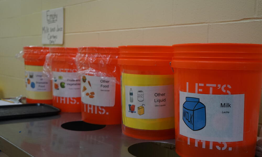 WWF Food Waste Warrior - Bucket Setup for Food Collection