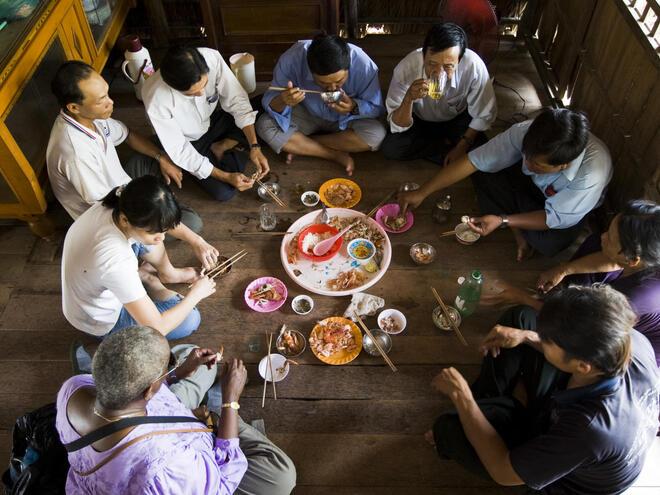 family eating