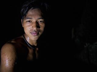 Feri, a honey famer from Talang Mamek tribe in Thirty Hills, Sumatra