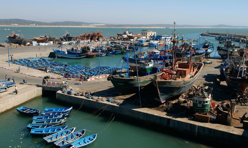 Fishing port in Morocco