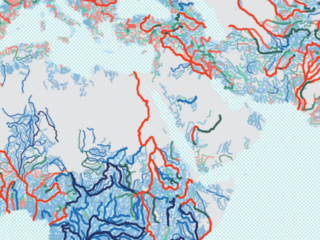 Free flowing rivers map