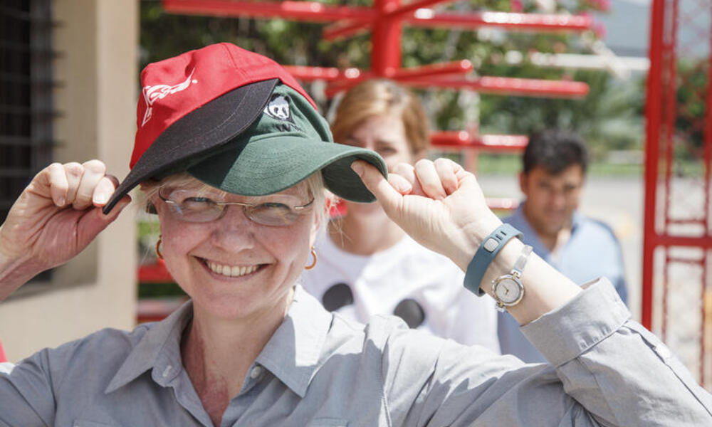 Senior Freshwater scientest for WWF wears two hats at the ABASA Coca-Cola bottling company in Guatemala.