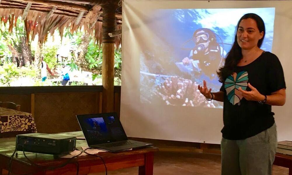 Gabby Ahmadia presenting