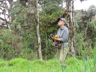 Gabriela Barragán Altamirano in the field