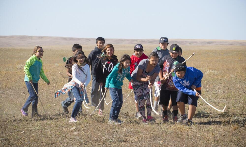 Games and educational displays captured the interest and imaginations of Fort Peck students.