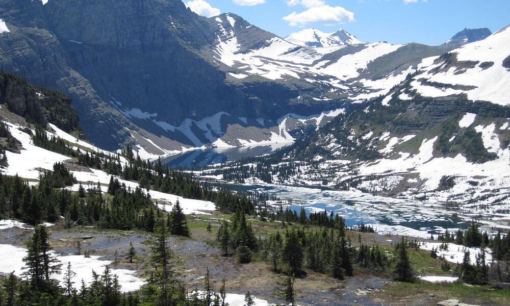 Glaciaer National Park Mountains