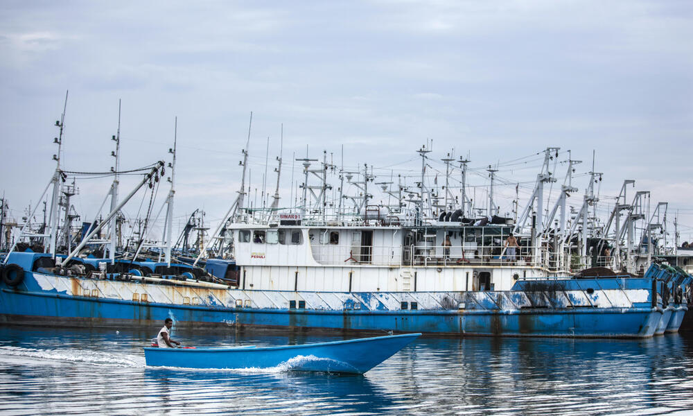 Grounded Fishing Boats
