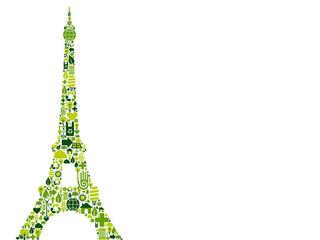 Eiffel Tower logo in green