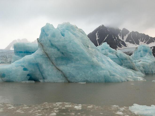 Icebergs in Norway