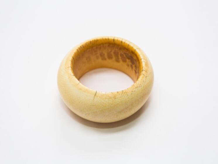 an ivory bangle bracelet
