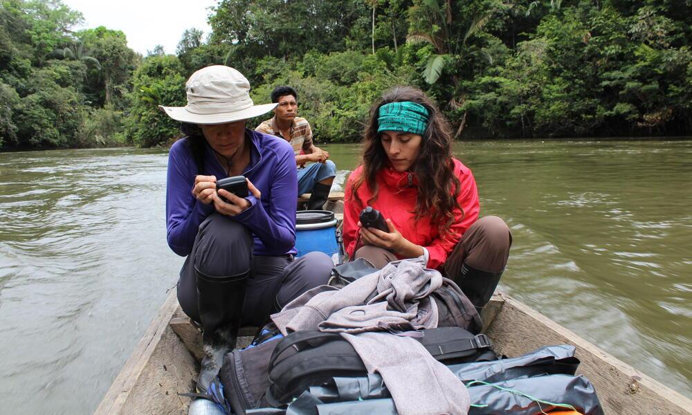 Juliana Velez Gomez in the field