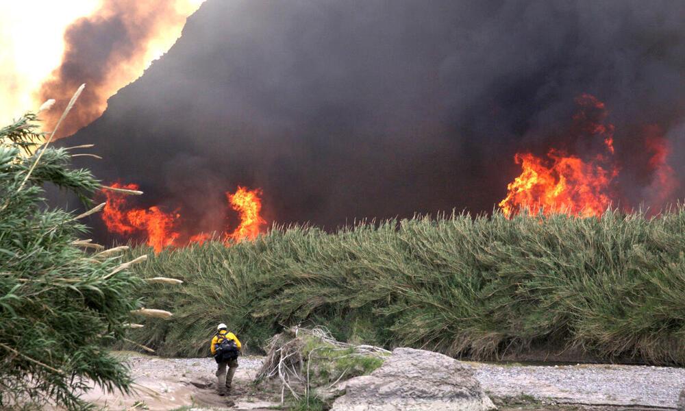 Fires along river