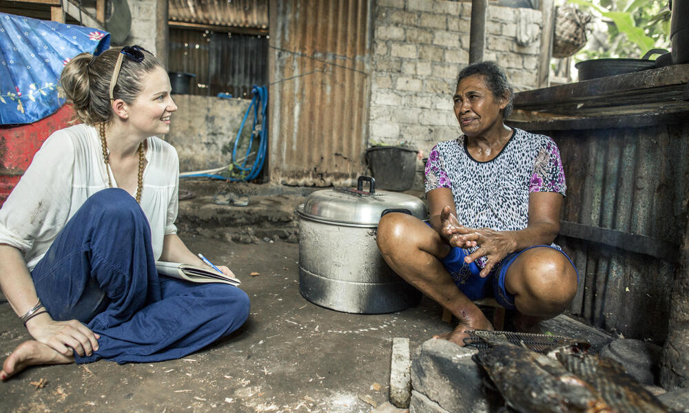 Louise Glew and Maluku Resident
