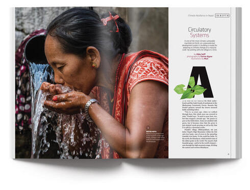 Magazine open to article on Nepal