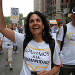 Mar Asuncion, WWF Spain, at the New York Climate march