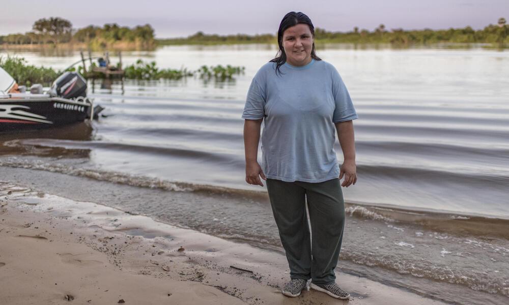 Margarita Gayoso Aguirre, community leader in Isla Margarita