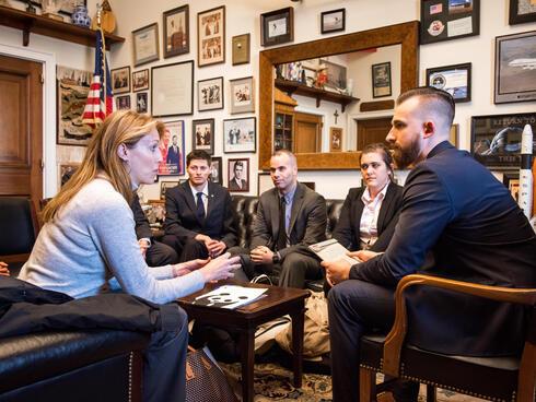 Activists meet with legislators