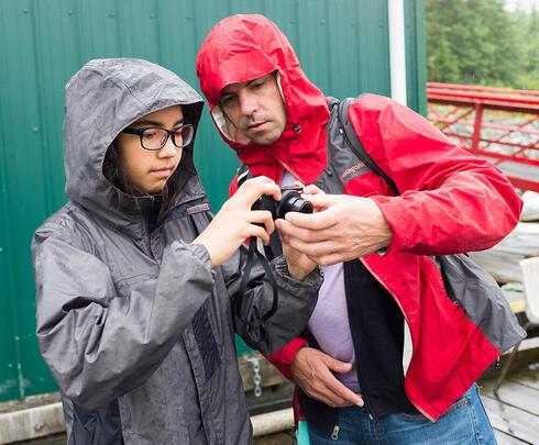 Jason Houston and student